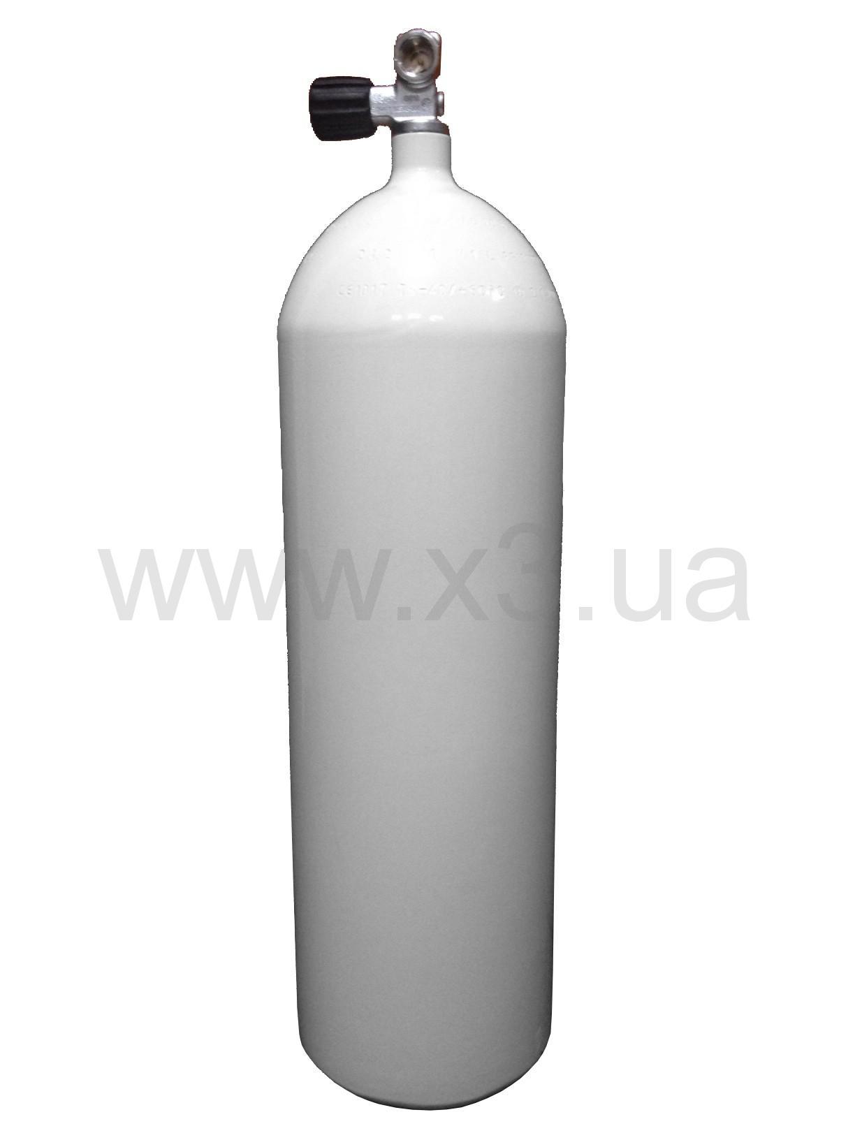 deepzone Баллон (акваланг)DEEPZONE баллон стальной 15 л, 230 Bar, 171 мм с вентилем CONCAVE