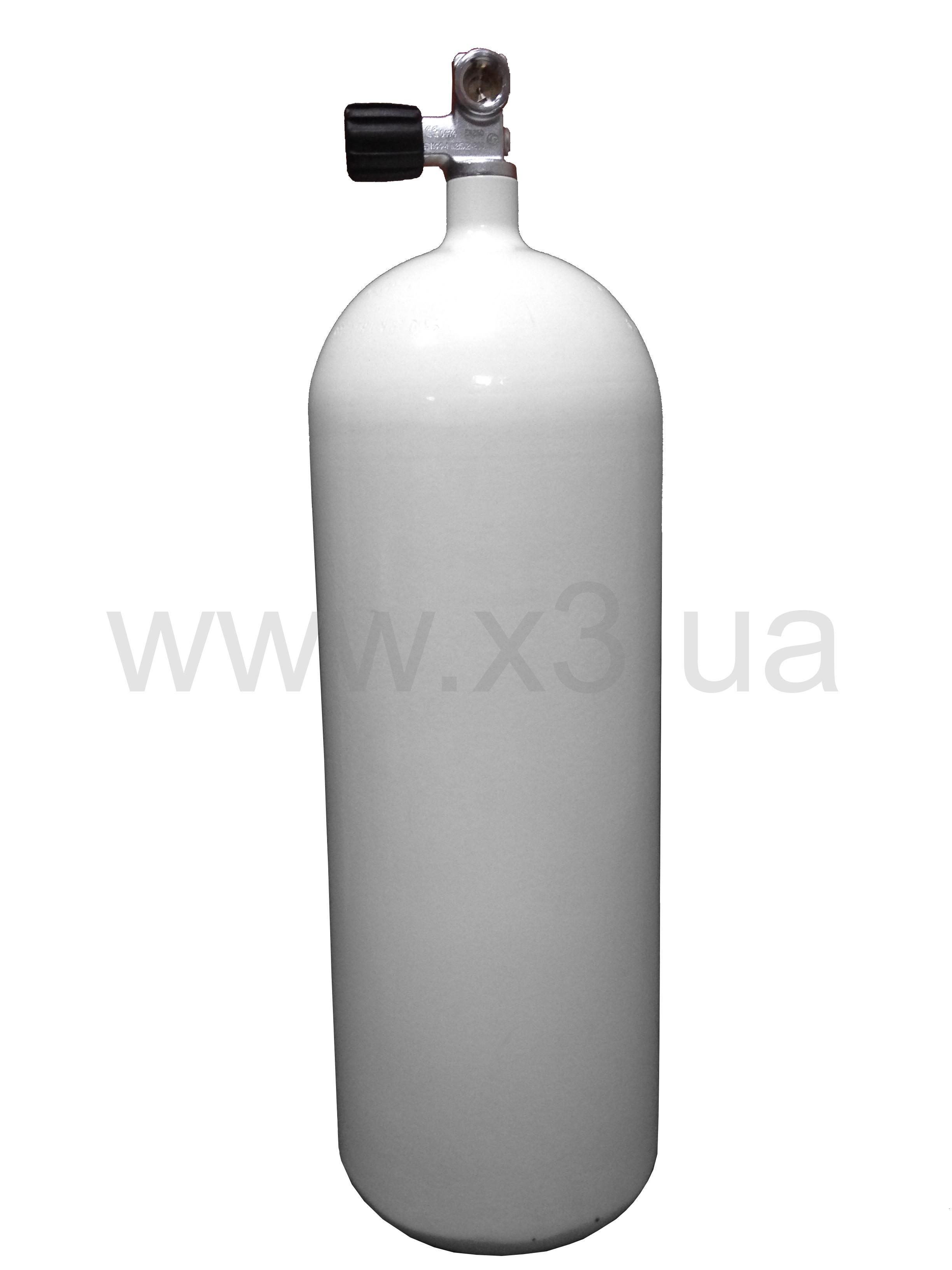 deepzone Баллон (акваланг)DEEPZONE баллон стальной 15 л, 230 Bar, 171 мм с вентилем