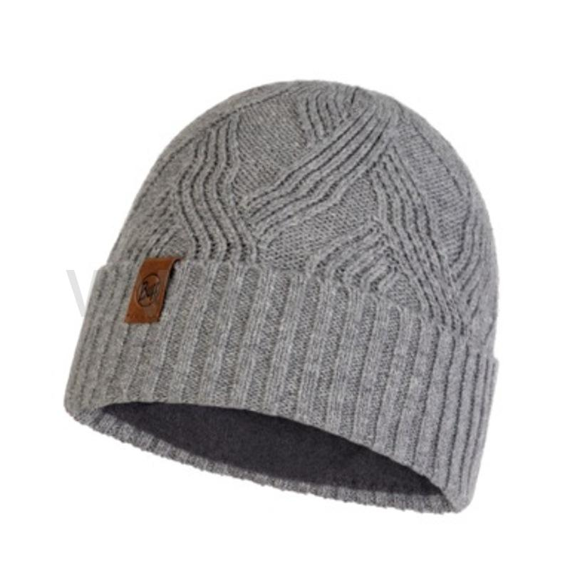 BUFF KNITTED & POLAR HAT ARTUR grey