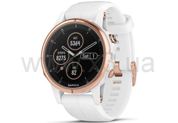 GARMIN fēnix 5S Sapphire Rose gold tone with white band
