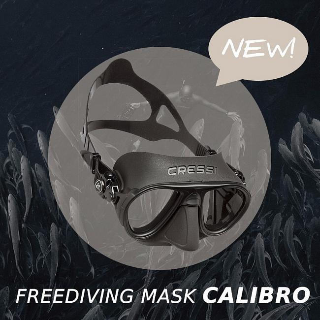 Новинка - маска CRESSI CALIBRO CLEAR